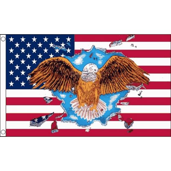 USA vlag met adelaar afbeelding   Maskers winkel   vele soorten maskers