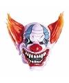 Clowns masker met oranje haar