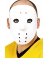 Witte hockey maskers